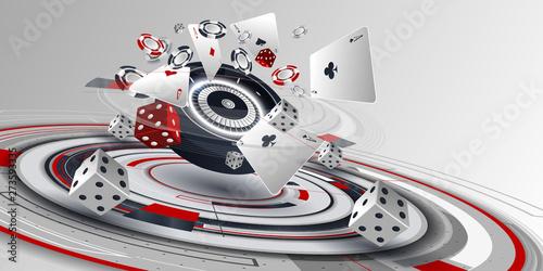 Canvas Print Casino background