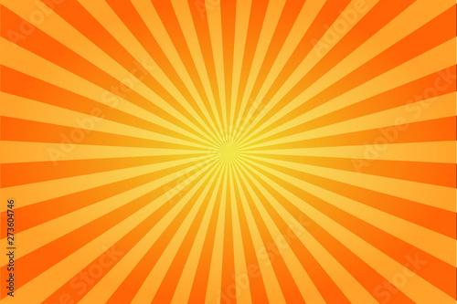 Fotografia Sunburst retro sun rays yellow background