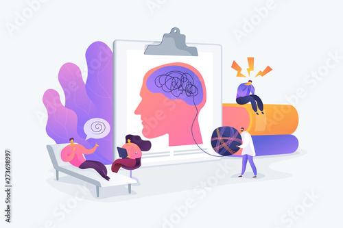 Fotografia Psychotherapy practice, psychiatrist consulting patient