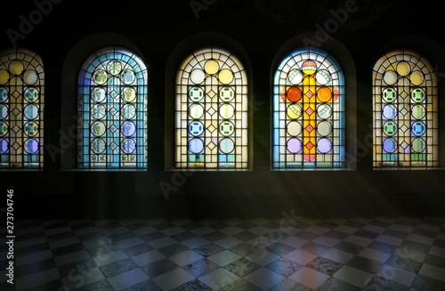 Obraz na plátne stained glass window