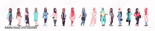 Fotografija set arabic women in hijab different arab girls wearing headscarf traditional clo