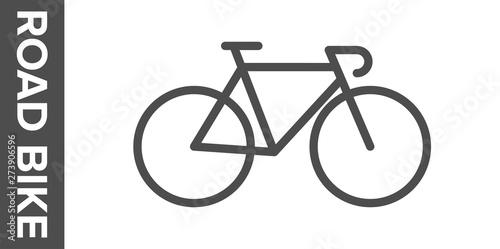 Fotografie, Obraz Road bike silhouette. Vector flat icon.