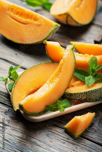 Carta da parati Sweet yellow fresh melon