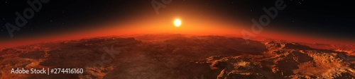 Panorama of Mars from the o...