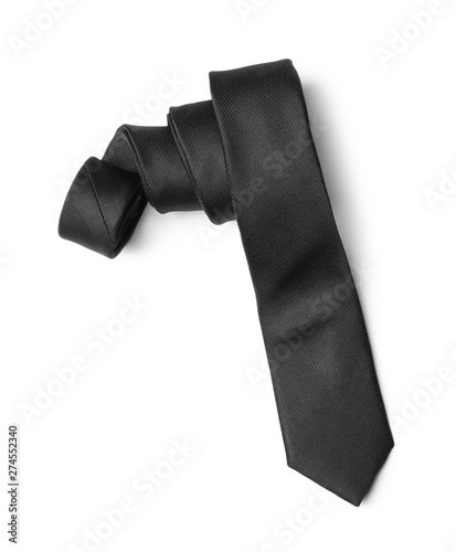 Fotografia Classic black male necktie isolated on white