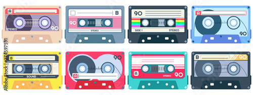 Fotografie, Obraz Vintage tape cassette