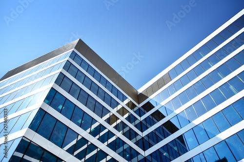 Fototapeta New office building in business center