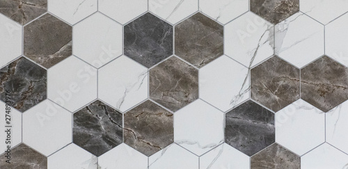 Obraz na plátně ceramic tile with abstract geometric mosaic pattern for the kitchen