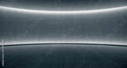Foto blank space Concrete wall with glowing light