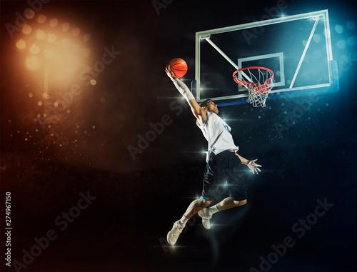 Man basketball player Fototapeta