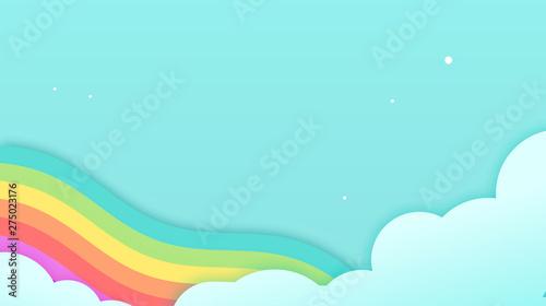Fotografia Abstract kawaii Colorful Sky rainbow background