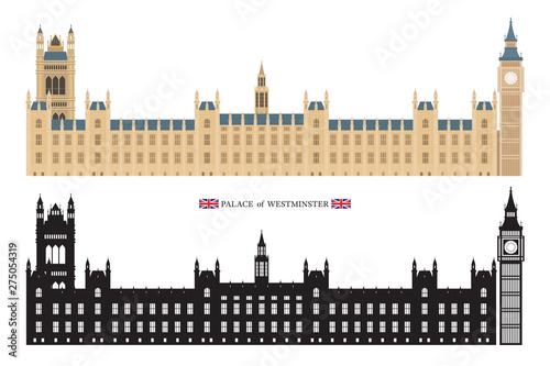 Obraz na plátně Palace of Westminster and Big Ben London, England