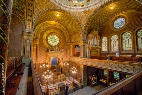 Obraz na płótnie Die Spanische Synagoge in Prag, Tschechische Republik