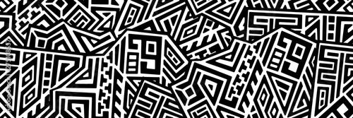 Obraz na plátně Creative Geometric Vector Seamless Pattern