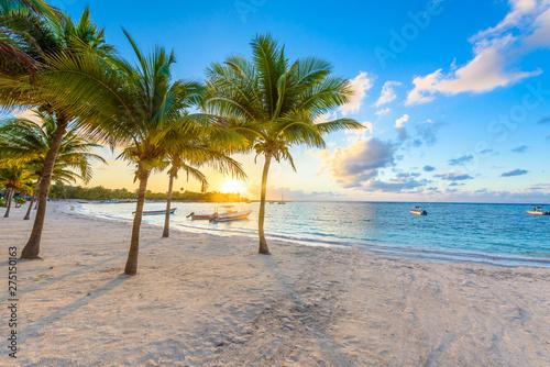 Carta da parati Akumal bay - Caribbean white beach in Riviera Maya, coast of Yucatan and Quintan