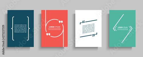 Fotografie, Obraz Quote speech bubble blank templates set