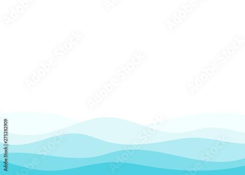 Fotografie, Obraz Blue water wave ocean sea vector abstract background