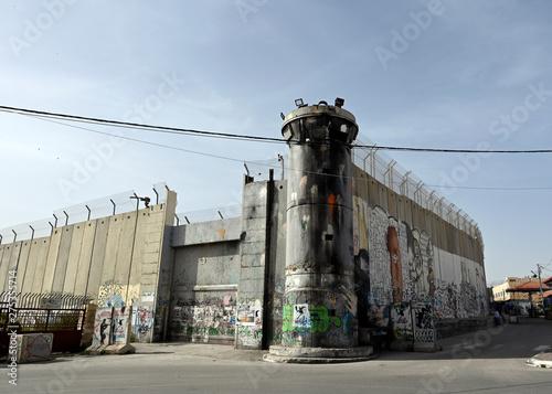 Fotografia Mur de séparation à Bethleem