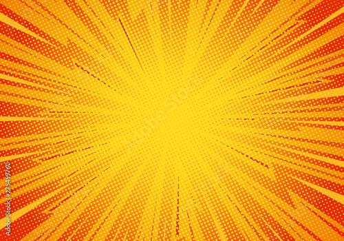 Fotografia, Obraz Comic pop art background lightning blast halftone dots