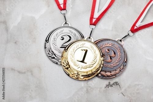 Obraz na plátne Olympic winter athlete background bronze competition contest