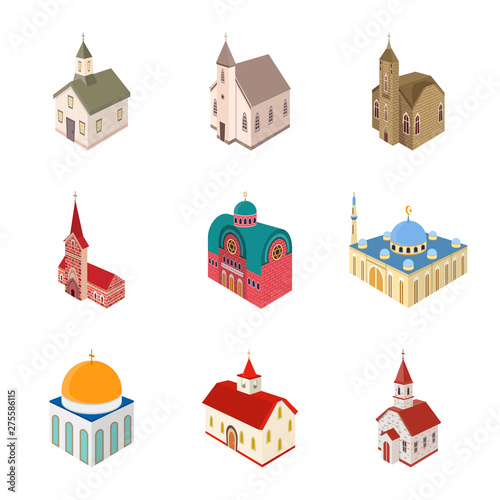 Foto Vector illustration of architecture and building logo