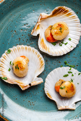 Photo Tasty grilled scallops