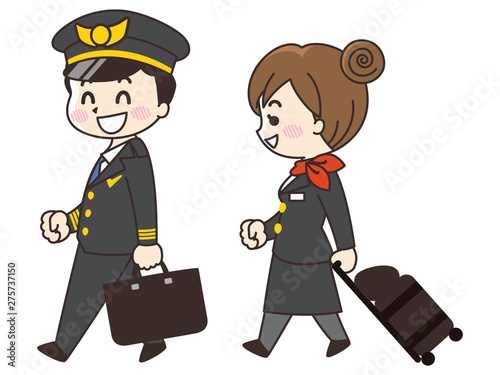 Fotografija パイロットの男性とCAの女性