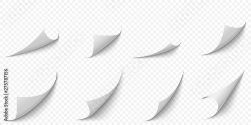 Obraz na plátně Curled paper corners