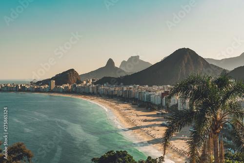 Wallpaper Mural View of Copacabana Beach in Rio de Janeiro, Brazil