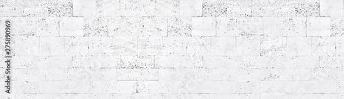 Obraz na plátně White washed tuff brick wall wide texture