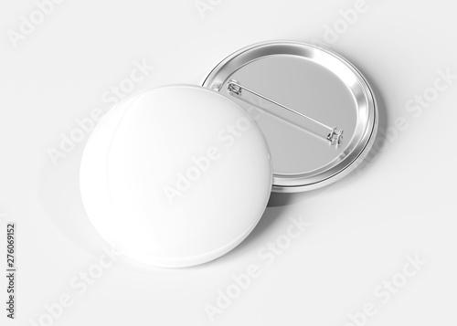 Badge on white background 3D rendering Fotobehang