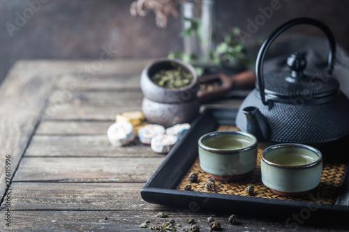 Obraz na plátně Healthy green tea