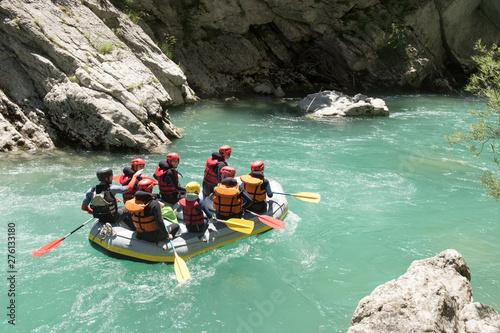 rafting on the verdon Fototapeta