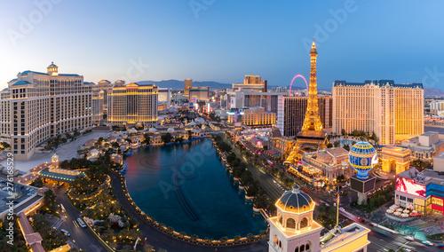 Photo aerial Las Vegas at night
