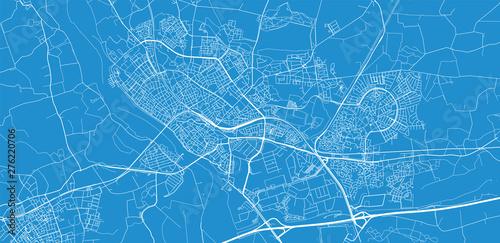 Canvas Print Urban vector city map of Deventer, The Netherlands