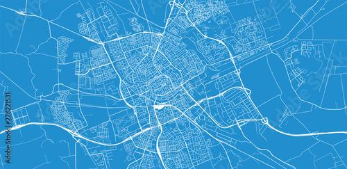 Wallpaper Mural Urban vector city map of Groningen, The Netherlands