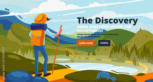Tablou Canvas Discovery banner