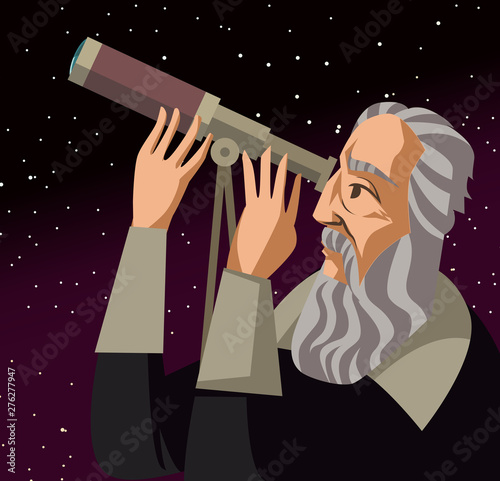 Canvas Print galileo galilei. great scientific astronomer.