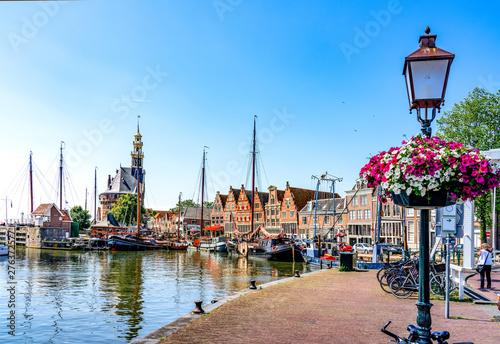 Canvas Print Historischer Hafen Hoorn, Holland