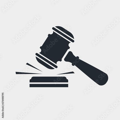 Canvas-taulu Judge gavel black icon