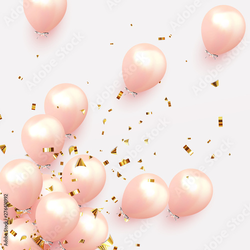 Festive background with helium balloons Fototapet