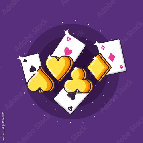 Stampa su Tela casino game poker cards icons