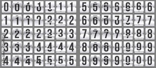 Stampa su Tela Flip clock numbers
