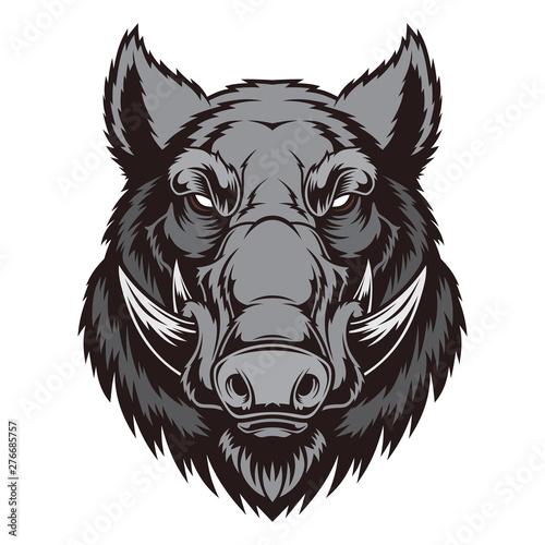 Canvas-taulu Wild boar head mascot.