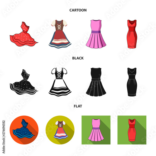 Tablou Canvas Isolated object of dress and clothes symbol