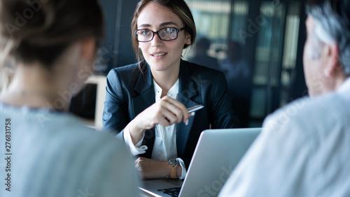 Fotografija Business people discussion advisor concept