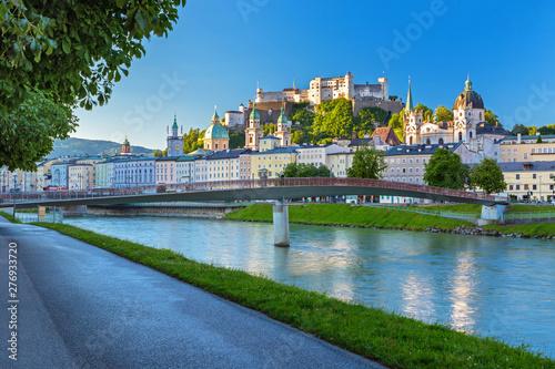Stampa su Tela Morning view on Salzburg skyline with Festung Hohensalzburg in the summer, Salzb