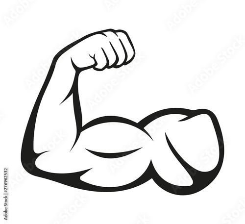 Canvas Biceps. Muscle icon. Vector