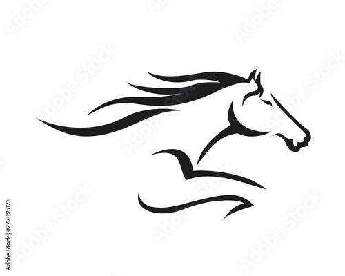 Valokuva Creative Horse Elegant Logo Symbol Design Illustration Vector for Company