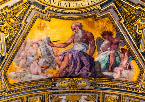 Obraz na plátně Gospel Writer Fresco Basilica Saint John Lateran Cathedral Rome Italy